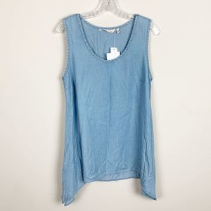 Soft Surroundings | NWT chambray tank top size S